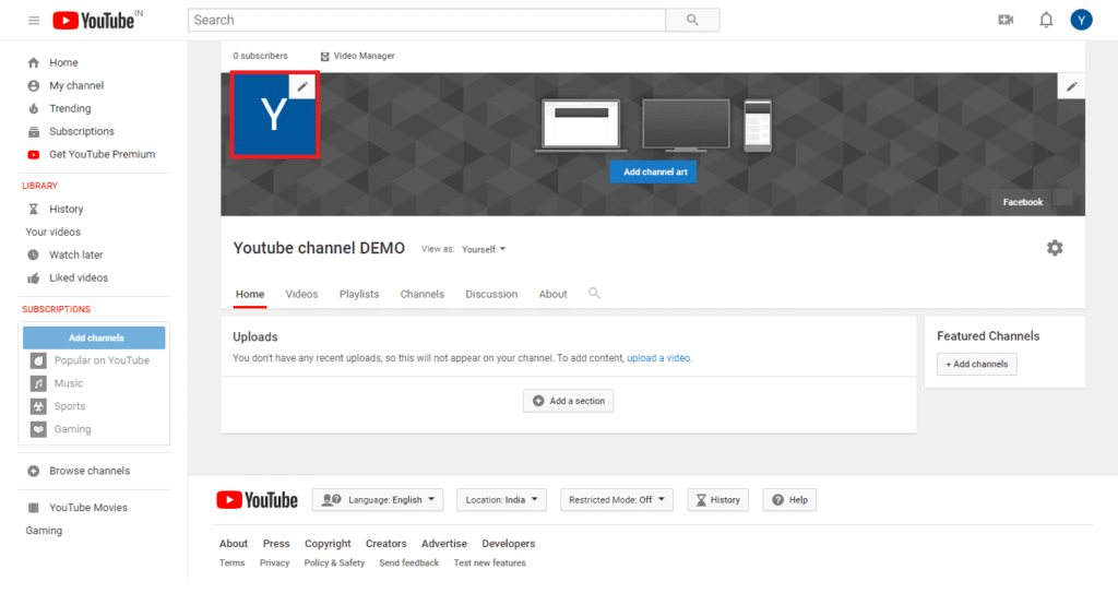 create a youtube channel in tamil